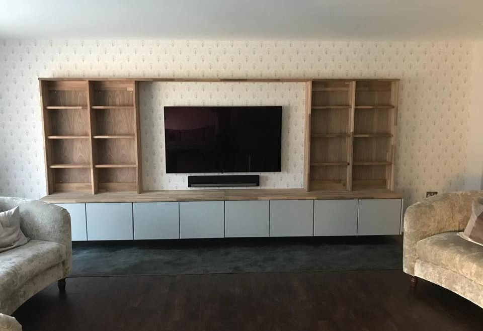 Custom Fitted TV Shelving