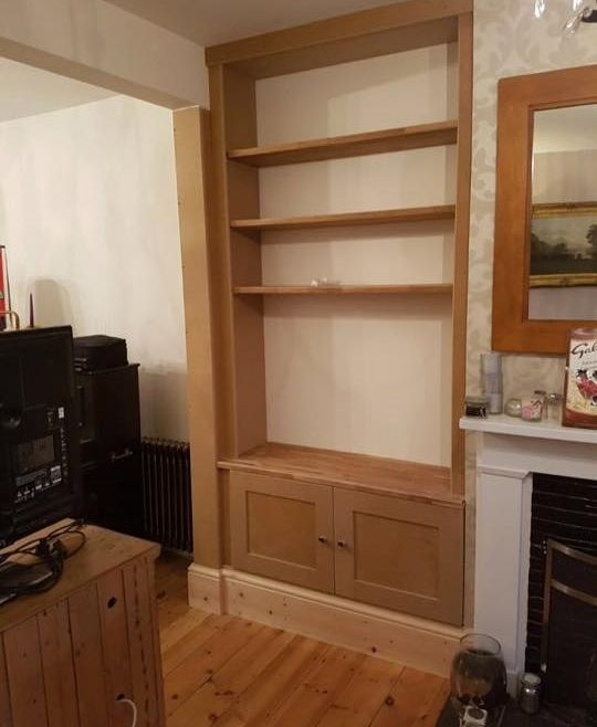 Alcove storage solutions